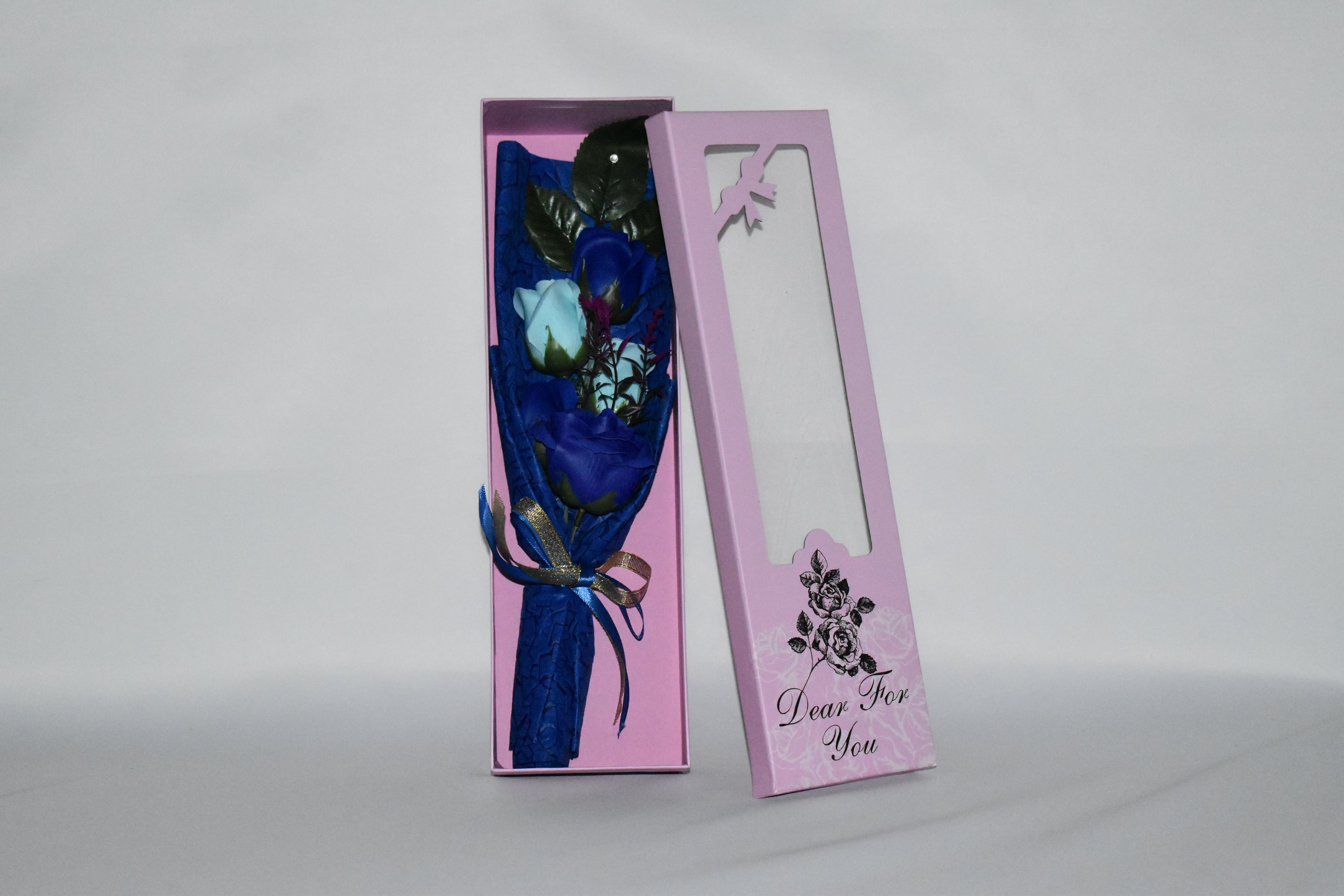 5 pcs Soap Rose Bouquet in a gift box