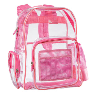 Heavy Duty Clear Backpack With Mesh Organizer (Medium)