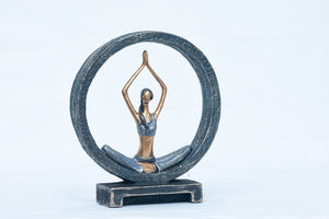 Yoga Girl Resin Figurine