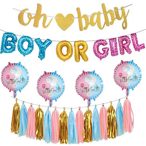 Decoratie Gender Reveal (Basic)-PartyPro.nl