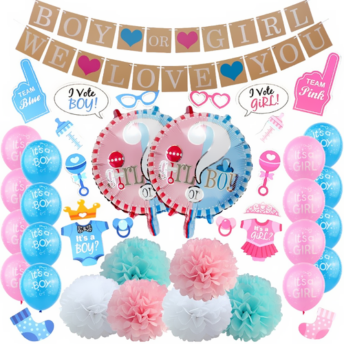 Decoratie Gender Reveal (Premium)-PartyPro.nl