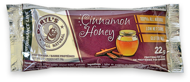 Daryl's All Natural Performance Line Cinnamon Honey Protein Bar