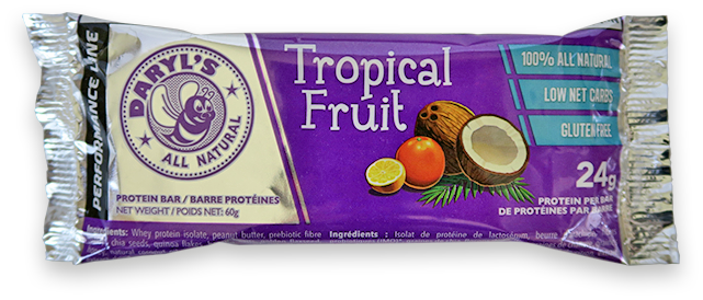 Daryl's All Natural Performance Line Tropical Fruit Protein Bar