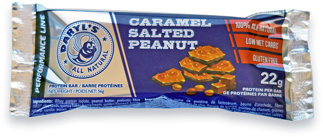 Daryl's All Natural Performance Line Caramel Salted Peanut Protein Bar