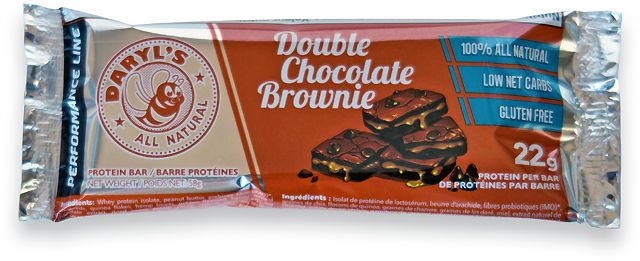 Daryl's All Natural Performance Line Double Chocolate Brownie Protein Bar