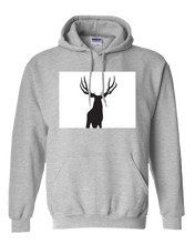 Load image into Gallery viewer, Pullover Hooded Sweatshirt Colorado Athletic Heather Mule Deer Vibrant Design High Quality Tight Knit Ring Spun Low Maintenance Cotton Printed With The Newest Available Color Transfer Technology