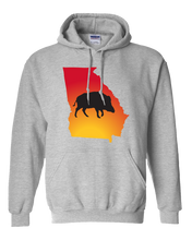 Load image into Gallery viewer, Pullover Hooded Sweatshirt Georgia Athletic Heather Wild Hog Vibrant Design High Quality Tight Knit Ring Spun Low Maintenance Cotton Printed With The Newest Available Color Transfer Technology