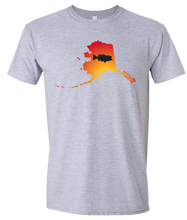 Load image into Gallery viewer, Short Sleeve T-Shirt Alaska Athletic Heather Large Mouth Bass Vibrant Design High Quality Tight Knit Ring Spun Low Maintenance Cotton Printed With The Newest Available Color Transfer Technology