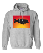 Load image into Gallery viewer, Pullover Hooded Sweatshirt Colorado Athletic Heather Large Mouth Bass Vibrant Design High Quality Tight Knit Ring Spun Low Maintenance Cotton Printed With The Newest Available Color Transfer Technology