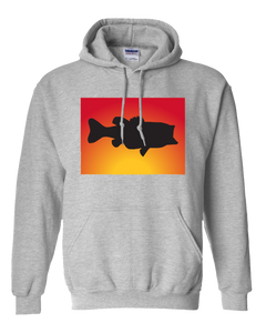 Pullover Hooded Sweatshirt Colorado Athletic Heather Large Mouth Bass Vibrant Design High Quality Tight Knit Ring Spun Low Maintenance Cotton Printed With The Newest Available Color Transfer Technology