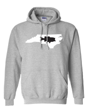 Load image into Gallery viewer, Pullover Hooded Sweatshirt North Carolina Athletic Heather Large Mouth Bass Vibrant Design High Quality Tight Knit Ring Spun Low Maintenance Cotton Printed With The Newest Available Color Transfer Technology