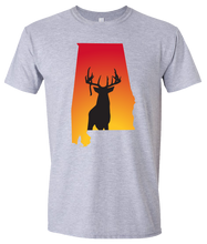 Load image into Gallery viewer, Short Sleeve T-Shirt Alabama Athletic Heather Whitetail Deer Vibrant Design High Quality Tight Knit Ring Spun Low Maintenance Cotton Printed With The Newest Available Color Transfer Technology