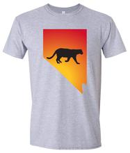Load image into Gallery viewer, Short Sleeve T-Shirt Nevada Athletic Heather Mountain Lion Vibrant Design High Quality Tight Knit Ring Spun Low Maintenance Cotton Printed With The Newest Available Color Transfer Technology