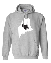Load image into Gallery viewer, Pullover Hooded Sweatshirt Maine Athletic Heather Turkey Vibrant Design High Quality Tight Knit Ring Spun Low Maintenance Cotton Printed With The Newest Available Color Transfer Technology
