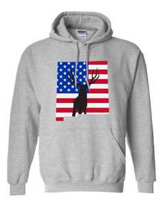 Pullover Hooded Sweatshirt New Mexico Athletic Heather Mule Deer Vibrant Design High Quality Tight Knit Ring Spun Low Maintenance Cotton Printed With The Newest Available Color Transfer Technology