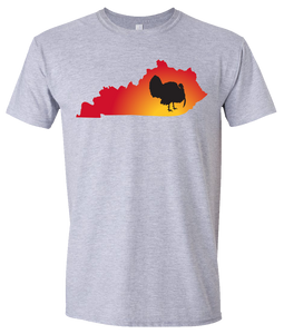 Short Sleeve T-Shirt Kentucky Athletic Heather Turkey Vibrant Design High Quality Tight Knit Ring Spun Low Maintenance Cotton Printed With The Newest Available Color Transfer Technology