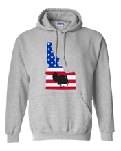 Load image into Gallery viewer, Pullover Hooded Sweatshirt Idaho Athletic Heather Turkey Vibrant Design High Quality Tight Knit Ring Spun Low Maintenance Cotton Printed With The Newest Available Color Transfer Technology