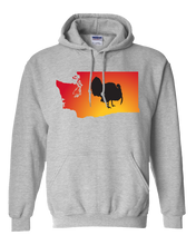 Load image into Gallery viewer, Pullover Hooded Sweatshirt Washington Athletic Heather Turkey Vibrant Design High Quality Tight Knit Ring Spun Low Maintenance Cotton Printed With The Newest Available Color Transfer Technology