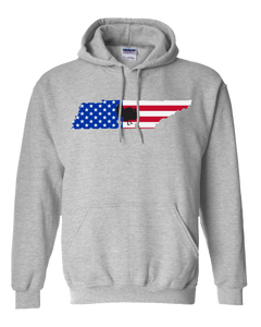 Pullover Hooded Sweatshirt Tennessee Athletic Heather Turkey Vibrant Design High Quality Tight Knit Ring Spun Low Maintenance Cotton Printed With The Newest Available Color Transfer Technology