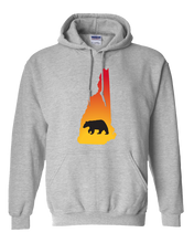 Load image into Gallery viewer, Pullover Hooded Sweatshirt New Hampshire Athletic Heather Black Bear Vibrant Design High Quality Tight Knit Ring Spun Low Maintenance Cotton Printed With The Newest Available Color Transfer Technology