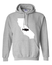 Load image into Gallery viewer, Pullover Hooded Sweatshirt California Athletic Heather Large Mouth Bass Vibrant Design High Quality Tight Knit Ring Spun Low Maintenance Cotton Printed With The Newest Available Color Transfer Technology