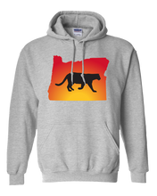 Load image into Gallery viewer, Pullover Hooded Sweatshirt Oregon Athletic Heather Mountain Lion Vibrant Design High Quality Tight Knit Ring Spun Low Maintenance Cotton Printed With The Newest Available Color Transfer Technology