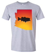 Load image into Gallery viewer, Short Sleeve T-Shirt Arizona Athletic Heather Large Mouth Bass Vibrant Design High Quality Tight Knit Ring Spun Low Maintenance Cotton Printed With The Newest Available Color Transfer Technology