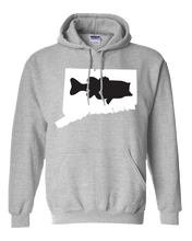 Load image into Gallery viewer, Pullover Hooded Sweatshirt Connecticut Athletic Heather Large Mouth Bass Vibrant Design High Quality Tight Knit Ring Spun Low Maintenance Cotton Printed With The Newest Available Color Transfer Technology