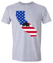 Load image into Gallery viewer, Short Sleeve T-Shirt California Athletic Heather Wild Hog Vibrant Design High Quality Tight Knit Ring Spun Low Maintenance Cotton Printed With The Newest Available Color Transfer Technology