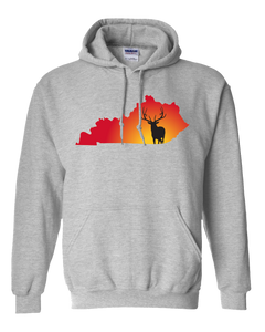 Pullover Hooded Sweatshirt Kentucky Athletic Heather Elk Vibrant Design High Quality Tight Knit Ring Spun Low Maintenance Cotton Printed With The Newest Available Color Transfer Technology