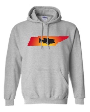 Load image into Gallery viewer, Pullover Hooded Sweatshirt Tennessee Athletic Heather Large Mouth Bass Vibrant Design High Quality Tight Knit Ring Spun Low Maintenance Cotton Printed With The Newest Available Color Transfer Technology