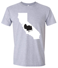 Load image into Gallery viewer, Short Sleeve T-Shirt California Athletic Heather Turkey Vibrant Design High Quality Tight Knit Ring Spun Low Maintenance Cotton Printed With The Newest Available Color Transfer Technology