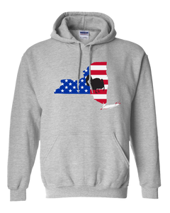 Pullover Hooded Sweatshirt New York Athletic Heather Turkey Vibrant Design High Quality Tight Knit Ring Spun Low Maintenance Cotton Printed With The Newest Available Color Transfer Technology