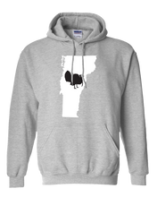 Load image into Gallery viewer, Pullover Hooded Sweatshirt Vermont Athletic Heather Turkey Vibrant Design High Quality Tight Knit Ring Spun Low Maintenance Cotton Printed With The Newest Available Color Transfer Technology
