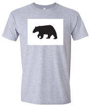 Load image into Gallery viewer, Short Sleeve T-Shirt Colorado Athletic Heather Black Bear Vibrant Design High Quality Tight Knit Ring Spun Low Maintenance Cotton Printed With The Newest Available Color Transfer Technology