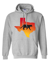 Load image into Gallery viewer, Pullover Hooded Sweatshirt Texas Athletic Heather Mountain Lion Vibrant Design High Quality Tight Knit Ring Spun Low Maintenance Cotton Printed With The Newest Available Color Transfer Technology