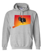 Load image into Gallery viewer, Pullover Hooded Sweatshirt Connecticut Athletic Heather Turkey Vibrant Design High Quality Tight Knit Ring Spun Low Maintenance Cotton Printed With The Newest Available Color Transfer Technology