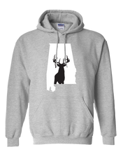 Load image into Gallery viewer, Pullover Hooded Sweatshirt Alabama Athletic Heather Whitetail Deer Vibrant Design High Quality Tight Knit Ring Spun Low Maintenance Cotton Printed With The Newest Available Color Transfer Technology