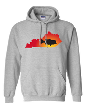 Load image into Gallery viewer, Pullover Hooded Sweatshirt Kentucky Athletic Heather Large Mouth Bass Vibrant Design High Quality Tight Knit Ring Spun Low Maintenance Cotton Printed With The Newest Available Color Transfer Technology