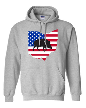 Load image into Gallery viewer, Pullover Hooded Sweatshirt Ohio Athletic Heather Wild Hog Vibrant Design High Quality Tight Knit Ring Spun Low Maintenance Cotton Printed With The Newest Available Color Transfer Technology