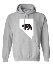 Load image into Gallery viewer, Pullover Hooded Sweatshirt Nevada Athletic Heather Black Bear Vibrant Design High Quality Tight Knit Ring Spun Low Maintenance Cotton Printed With The Newest Available Color Transfer Technology