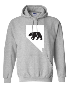 Pullover Hooded Sweatshirt Nevada Athletic Heather Black Bear Vibrant Design High Quality Tight Knit Ring Spun Low Maintenance Cotton Printed With The Newest Available Color Transfer Technology