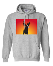 Load image into Gallery viewer, Pullover Hooded Sweatshirt Colorado Athletic Heather Whitetail Deer Vibrant Design High Quality Tight Knit Ring Spun Low Maintenance Cotton Printed With The Newest Available Color Transfer Technology
