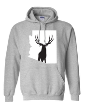 Load image into Gallery viewer, Pullover Hooded Sweatshirt Arizona Athletic Heather Mule Deer Vibrant Design High Quality Tight Knit Ring Spun Low Maintenance Cotton Printed With The Newest Available Color Transfer Technology