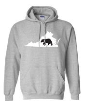 Load image into Gallery viewer, Pullover Hooded Sweatshirt Virginia Athletic Heather Black Bear Vibrant Design High Quality Tight Knit Ring Spun Low Maintenance Cotton Printed With The Newest Available Color Transfer Technology