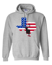 Load image into Gallery viewer, Pullover Hooded Sweatshirt Texas Athletic Heather Elk Vibrant Design High Quality Tight Knit Ring Spun Low Maintenance Cotton Printed With The Newest Available Color Transfer Technology