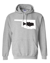 Load image into Gallery viewer, Pullover Hooded Sweatshirt Oklahoma Athletic Heather Large Mouth Bass Vibrant Design High Quality Tight Knit Ring Spun Low Maintenance Cotton Printed With The Newest Available Color Transfer Technology