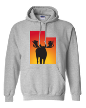 Load image into Gallery viewer, Pullover Hooded Sweatshirt Utah Athletic Heather Moose Vibrant Design High Quality Tight Knit Ring Spun Low Maintenance Cotton Printed With The Newest Available Color Transfer Technology