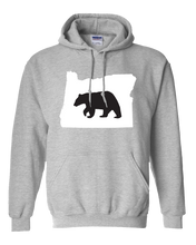 Load image into Gallery viewer, Pullover Hooded Sweatshirt Oregon Athletic Heather Black Bear Vibrant Design High Quality Tight Knit Ring Spun Low Maintenance Cotton Printed With The Newest Available Color Transfer Technology