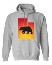 Load image into Gallery viewer, Pullover Hooded Sweatshirt Utah Athletic Heather Black Bear Vibrant Design High Quality Tight Knit Ring Spun Low Maintenance Cotton Printed With The Newest Available Color Transfer Technology